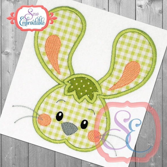 Big Ears Bunny Boy Applique, Applique