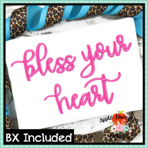 Bless Your Heart Embroidery Alphabet, Embroidery Font