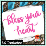 Bless Your Heart Embroidery Alphabet