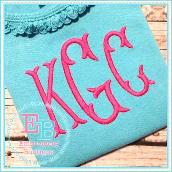 Bliss Monogram Embroidery Font