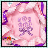 Bow Mini Embroidery Design, Embroidery