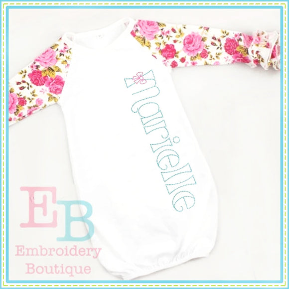 Bow Embroidery Font-Embroidery Boutique