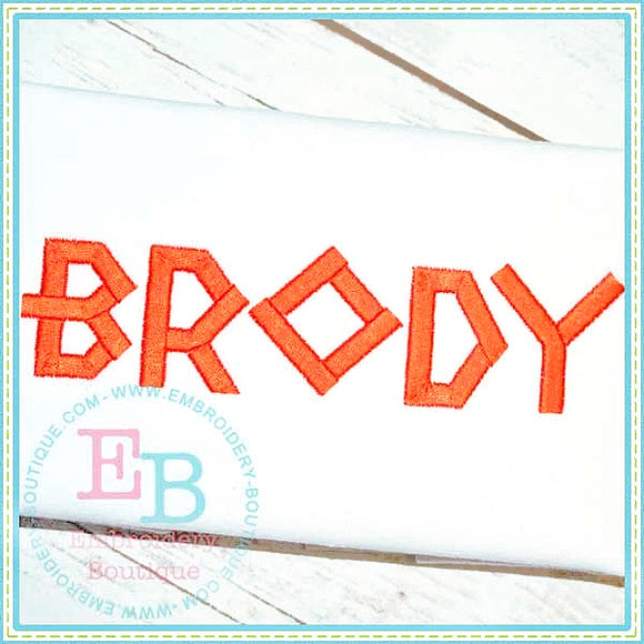 Brody Embroidery Font, Embroidery Font