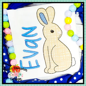 Bunny Bean Stitch Applique Design-Embroidery Boutique