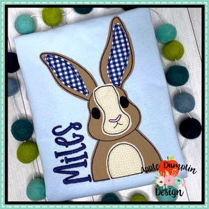 Bunny Bean Stitch Applique Design, Applique