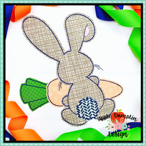 Bunny Backside Boy Bean Stitch Applique Design, applique