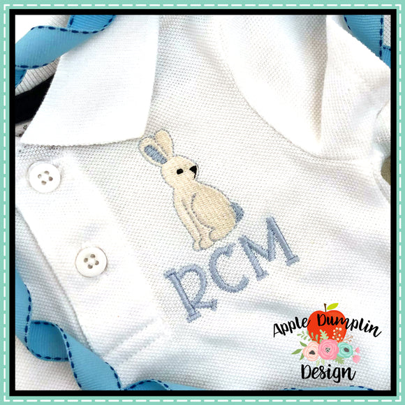 Bunny Mini Embroidery Design, applique