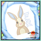 Bunny Sketch Embroidery Design, Applique