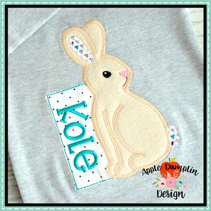 Bunny Zigzag Applique Design, applique