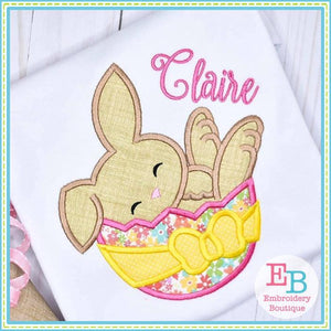 Bunny in Egg Satin Applique