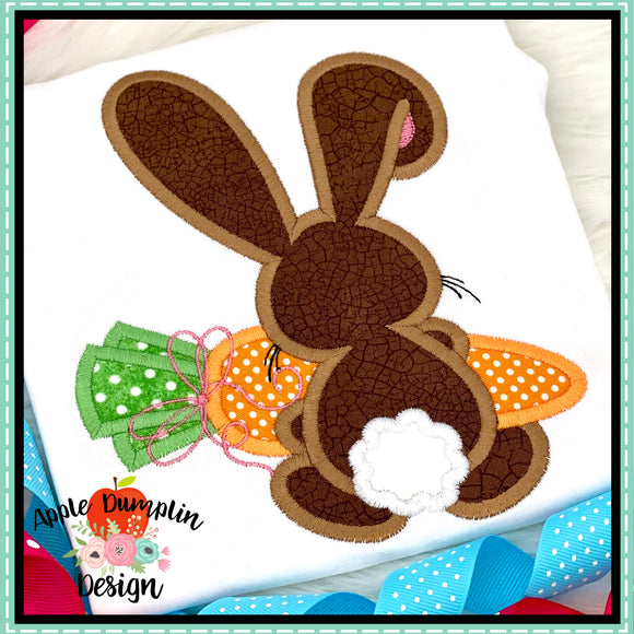 Bunny Backside Girl Satin Applique Design, applique