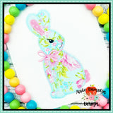 Bunny with Bow Zigzag Applique Design-Embroidery Boutique