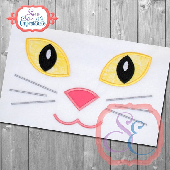 Cat Face Applique - embroidery-boutique
