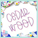 Cedar Wood Bean Stitch Embroidery Font, Embroidery Font