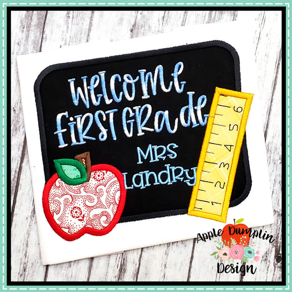 Chalkboard Satin Applique Design