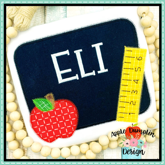 Chalkboard Zigzag Applique Design