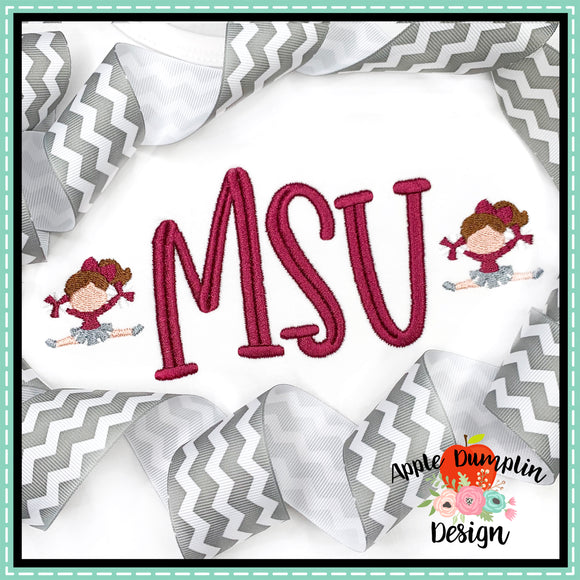 Cheerleader Mini Embroidery Design