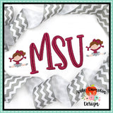 Cheerleader Mini Embroidery Design, Embroidery