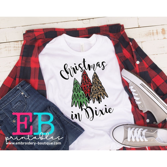 Christmas in Dixie Printable Design PNG - embroidery-boutique