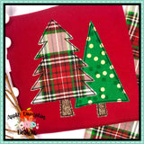 Christmas Trees Bean Stitch Applique  Design, Applique