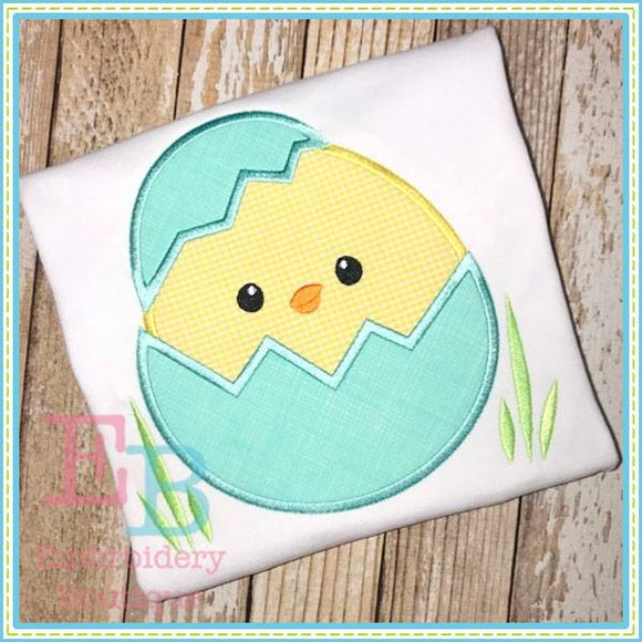 Cracked Boy Chick Applique - Embroidery Boutique