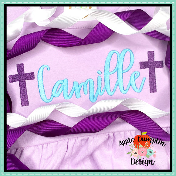 Cross Mini Embroidery Design, applique