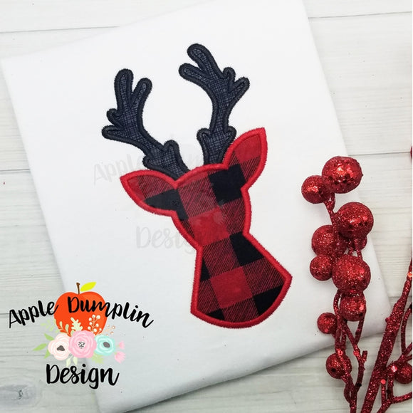 Deer Silhouette Applique Design - embroidery-boutique