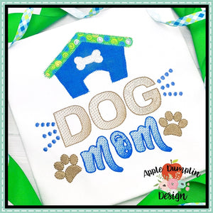 Dog Mom  Zigzag Applique Design