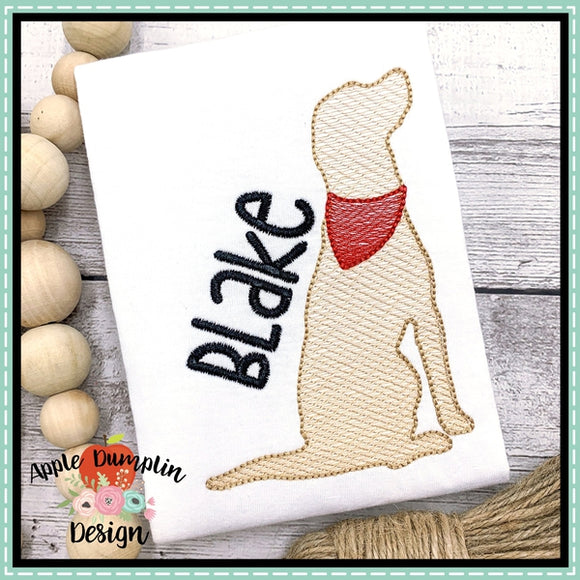 Dog Sketch Embroidery Design, Embroidery