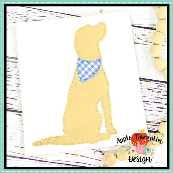 Dog Zigzag Applique Design