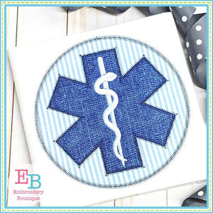 EMS Logo Zigzag Applique, Applique