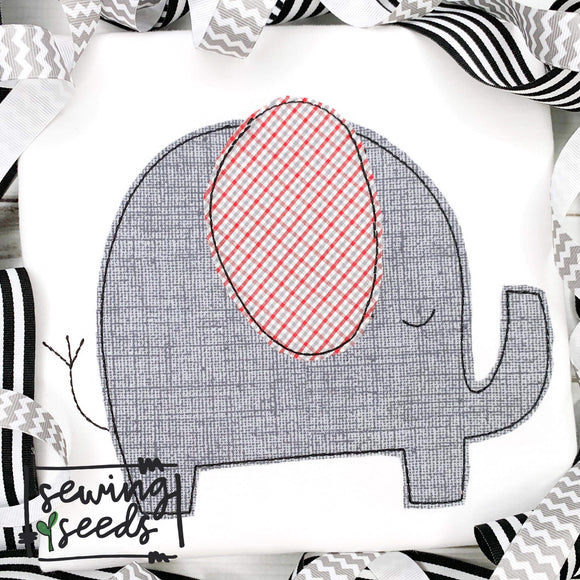 Elephant Applique SS