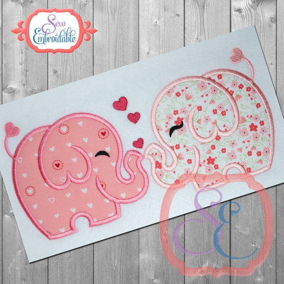 Elephant Love Applique