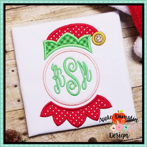 Elf Face for Monogram Applique Design - embroidery-boutique
