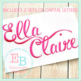 Ella Claire Embroidery Font-Embroidery Boutique