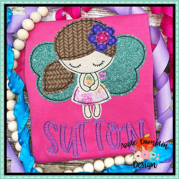 Fairy Bean Stitch Applique Design