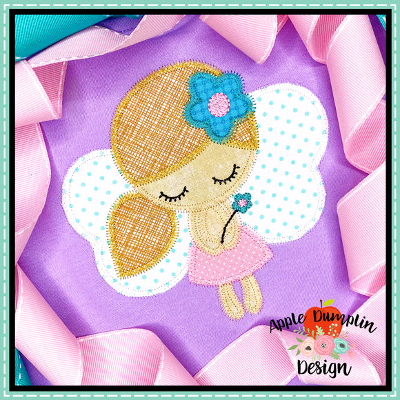 Fairy Zigzag Applique Design, applique