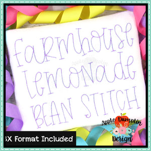 Farmhouse Lemonade Bean Embroidery Alphabet