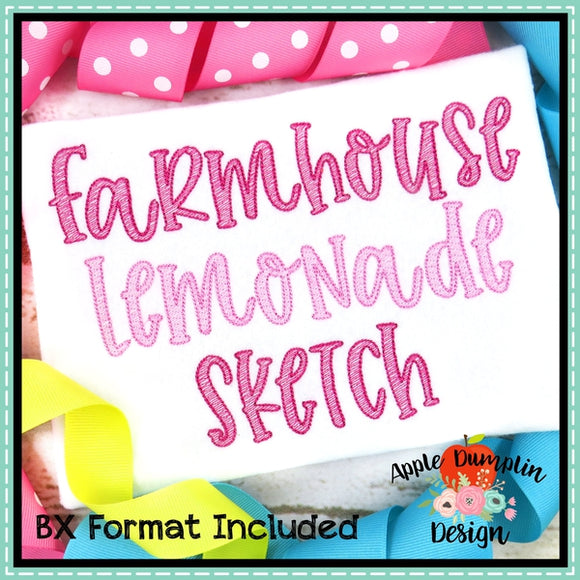 Farmhouse Lemonade Sketch Alphabet