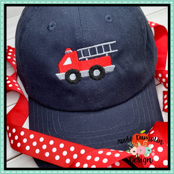 Fire Truck Mini Embroidery Design, applique