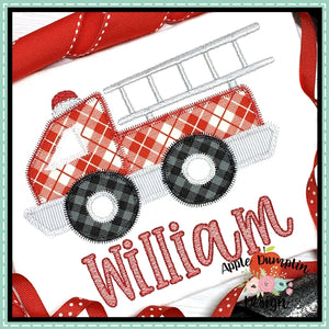 Fire Truck Zigzag Applique Design