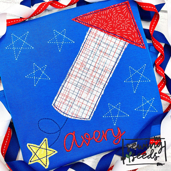 Firework with Stars Applique SS-Embroidery Boutique