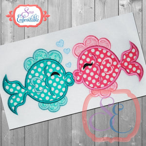 Fish Love Applique, Applique
