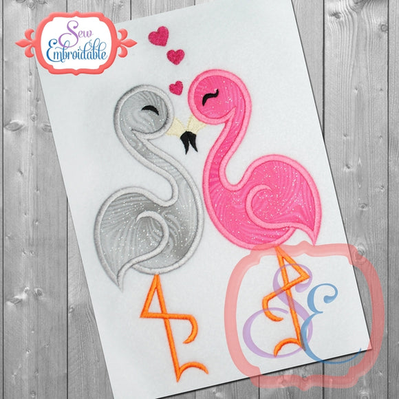 Flamingo Love Applique