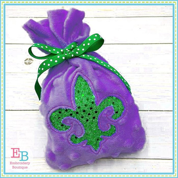 Fleur De Lis In The Hoop Treat Bag