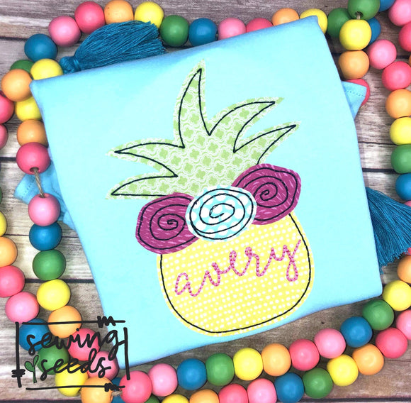 Floral Pineapple Applique SS
