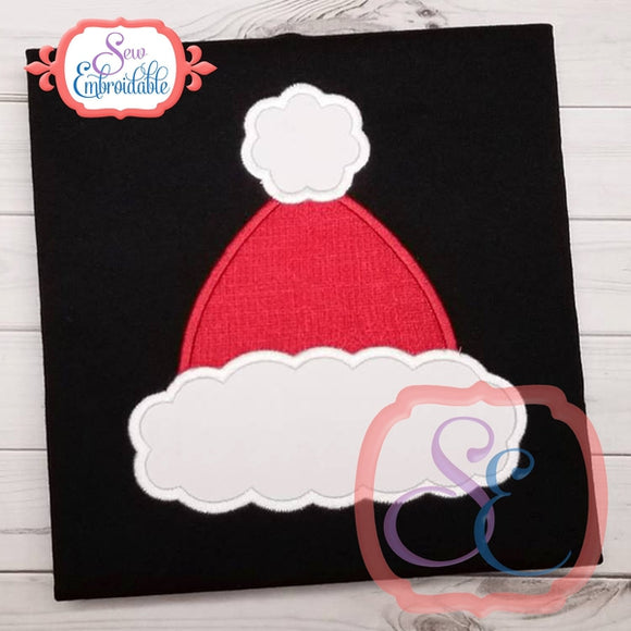 Fluffy Santa Hat Applique