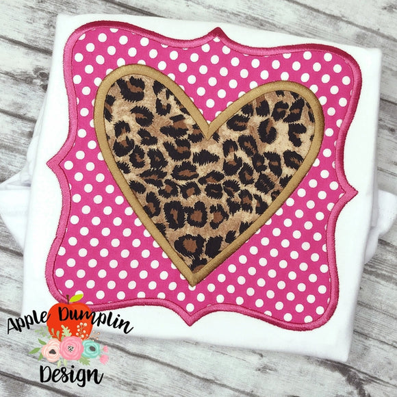 Square Framed Heart Applique Design - embroidery-boutique