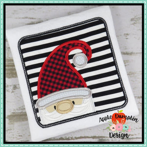 Santa Gnome in Frame Applique Design