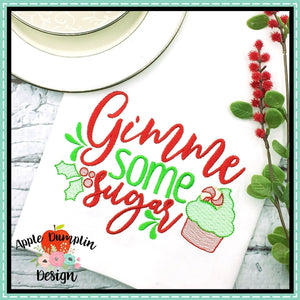 Gimme Some Sugar Sketch Embroidery Design, applique